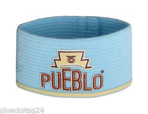 PUEBLO Pouchband NEU Blau Verschluss Gummi Tabakbeutel Drehertasche Tabaktasche*