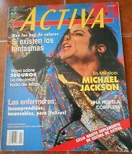 ACTIVA magazine MICHAEL JACKSON dolores olmedo MARLEE MATLIN CARMEN CAMPUZANO