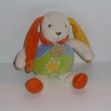 Doudou Lapin Doudou et Compagnie - Jaune Orange