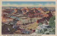 Postcard Fred Harvey A589 Northwest Pima Pt Grand Canyon National Park AZ 1947
