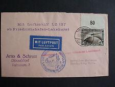 LZ 127 Nordam1929, Versuchte Amerikafahrt, Brief mit 4 RM. Zeppelin vom Oberrand