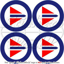 """NORWAY Norwegian AirForce Roundels 2""""(50mm) Stickers x4"""