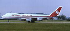 Boeing B-747 Air Algerie Airplane Mahogany Wood Model Small New