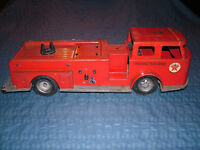 VINTAGE TOY 1950-60S LARGE BUDDY L FIRE CHIEF TEXACO TRUCK