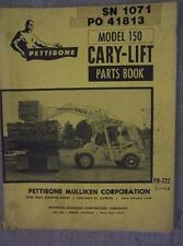 1964 Pettibone Model 150 Cary Lift Loader Parts Book Manual Safety Machine   J