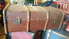 Vintage Antique Retro Steamer Cabin Trunk Packing Case Storage Table Blankets