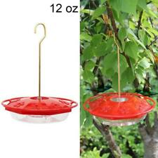 12 oz Plastic Hanging Hummingbird Birds Feeder with 8 Feeding Ports for outdoor