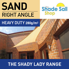 Shade Sail 4X4X5.66m Right Angle Triangle SAND 280gsm Super strong 4 X 4 X 5.66m