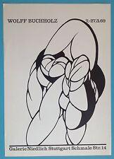 Wolff BUCHHOLZ Affiche Originale Lithographie de 1969 abstrait 59x42cm 48ans