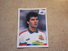 FOOTBALL PANINI STICKER FRANCE 98 WORLD CUP DANONE / Kostadinov BULGARIA (296)