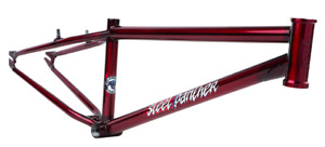 """S&M 24 INCH STEEL PANTHER RACE FRAME TRANS CANDY RED 22 22"""" SPEED WAGON CRUISER"""