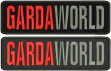 GARDAWORLD EMBROIDERY PATCH 3X10 HOOK ON BACK BLK/RED/GRAY