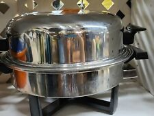 Vintage Townecraft Liquid Core Electric Skillet with dome lid egg poacher