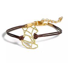Armband Origami Fuchs Textil minimal filigran fox bracelet animal braun gold