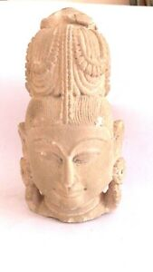 Hand crafted lord buddha stone figurine with engraved carvings