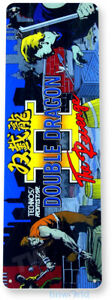 Double Dragon 2 Arcade Sign, Classic Arcade Game Marquee Tin Sign A335