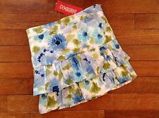 Nwt Vintage Gymboree Girls Floral Skirt Size 6 Malibu Cowgirl Line White Blue