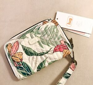 Lug Rodeo Compact RFID Wallet in Lily Sand NWT