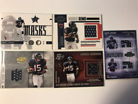 ANDRE JOHNSON ROOKIE JERSEY LOT OF 5 GAME USED FACEMASK RC TEXANS 2003