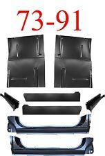 8Pc OEM 73 91 Chevy Blazer Large Floor Pan X-Rocker Inner & Support GMC