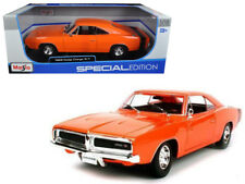 Maisto 1/18 1969 Dodge Charger R/T Diecast Model Car Orange (31387)