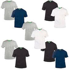 Duke D555 Mens King Size Big Tall 2 Pack Cotton Crew Neck T-Shirt Tee Top
