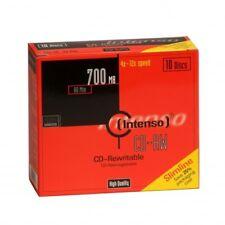 Intenso 12X RW volver a escribir 700mb-10 discos en carcasa de Plástico