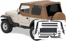1987-1995 Jeep Wrangler Soft Top w/ Upper Doors, Tinted Windows & Hardware Spice