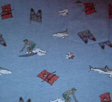 Shark Surfer Fins Life Vest Pocket Character Hero T Shirt Size XS Beach Ocean