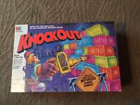 Vintage 1991 Milton Bradley Knockout Board Game Complete Very Nice Hammer Works