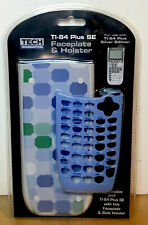 TI-84 Plus SE Faceplate & Holster * Brand New Blue & Green Sealed FREE SHIP D1