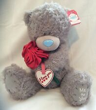 """Me To You Bear Holding Rose - 12"""" Plush - Brand New"""