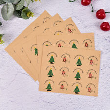60x Vintage Christmas Badge Design DIY Multifunction Seal Sticker Gift Label W&C