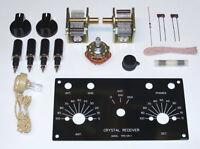 UNBUILT Heathkit CR-1 vintage AM crystal radio receiver reproduction DIY kit set