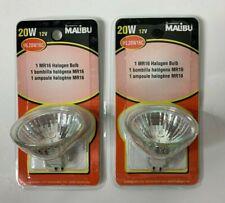 2 Pack Malibu 20W MR16 Halogen Clear Bulbs 12V Landscape Yard Light ML20W16C