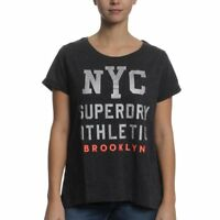 SUPERDRY Worn Wash BF Tee Women  Black Marl G10024XOAZB