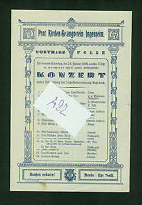 Prot. Kirchen-Gesangverein Ingenheim 1926 Konzert Programm Rohrbach Gienandt