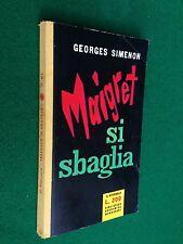 Georges SIMENON - MAIGRET SI SBAGLIA , Girasole n. 61, 1° Ed. BEM (1956)