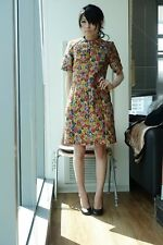 Celine Resort 12 Floral Brocade Shift Dress FR 36 (34-36) Phoebe Philo