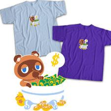 Animal Crossing Tom Nook Raccoon Bells Money Funny Video Game Unisex Tee T-Shirt