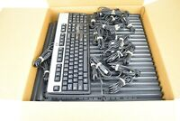 HP KU-0316 USB Keyboard Silver / Black for Computer Lot of 25