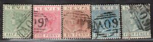 NEVIS 1882/90 STAMP Sc. # 21 AND 23/6 USED