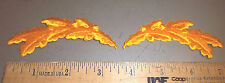 "gold Oak leaf clusters Iron on Embroidered Patch set of 2 - ""scrambled eggs"" NEW"