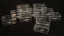 Clear Plastic Acrylic Jewel Storage Containers Lot Of 10 Snap Close Beads Lures