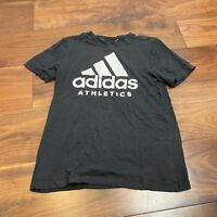 Vintage ADIDAS Mens T Shirt Small Black Logo Spell Out Graphic Tee
