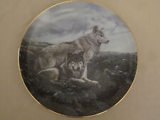 Wolf Collector Plate Above Timberline Terry Isaac Wolf Encounters