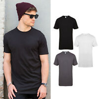 SF Longline T-Shirt with Dipped Hem (SF258) - Casual Short Sleeved Tee