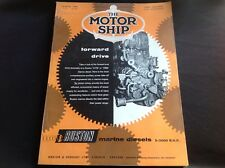 VINTAGE 1960 THE MOTOR SHIP BUILDERS RUSTON TANKERS DIESEL 5-3000 BHP