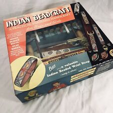Vintage WALCO Indian Beadcraft Kit with Loom Finished Beaded Jewelry NOS 1957