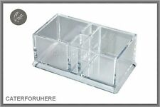 ACRYLIC PLASTIC CLEAR SACHET TEA T BAG HOLDER CONDIMENT HOLDER BOX CADDY SAUCE